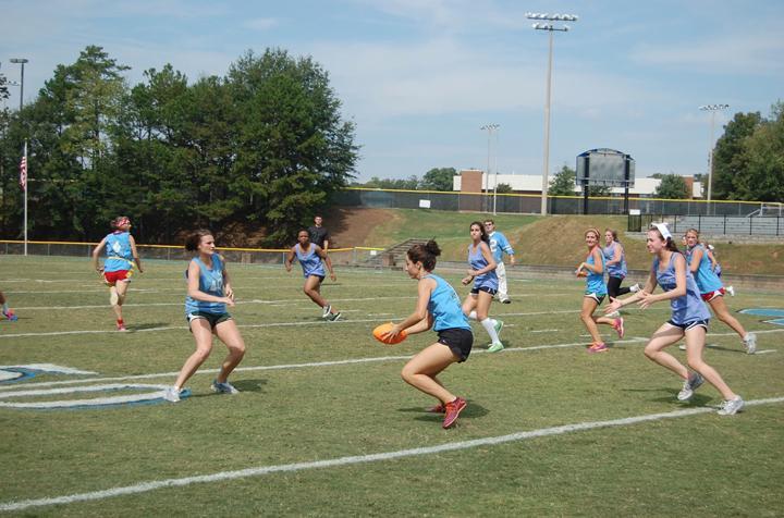Senior Caroline Jennings goes for the touchdown