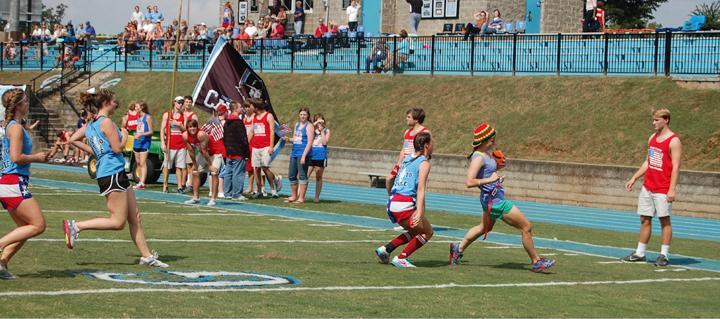 Junior Sarah Renfro carries the ball