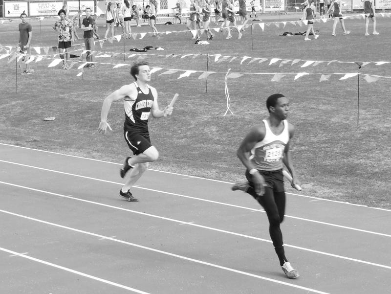 Senior Sprinter runs hard
