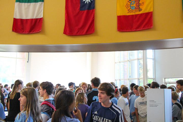 Students filled the CCES Cafeteria for the annual Club Day.