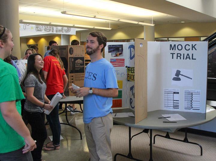 A teacher advertises the Christ Church Mock Trial team