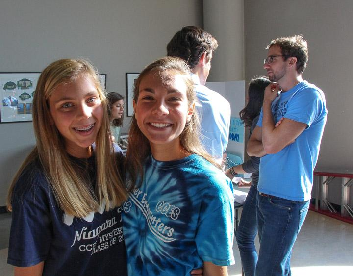 Students pose at the Club Fair