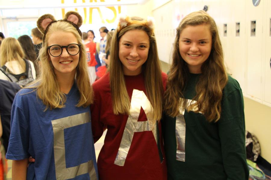For Pair Day, three students opted to dress up as Alvin and the Chipmunks