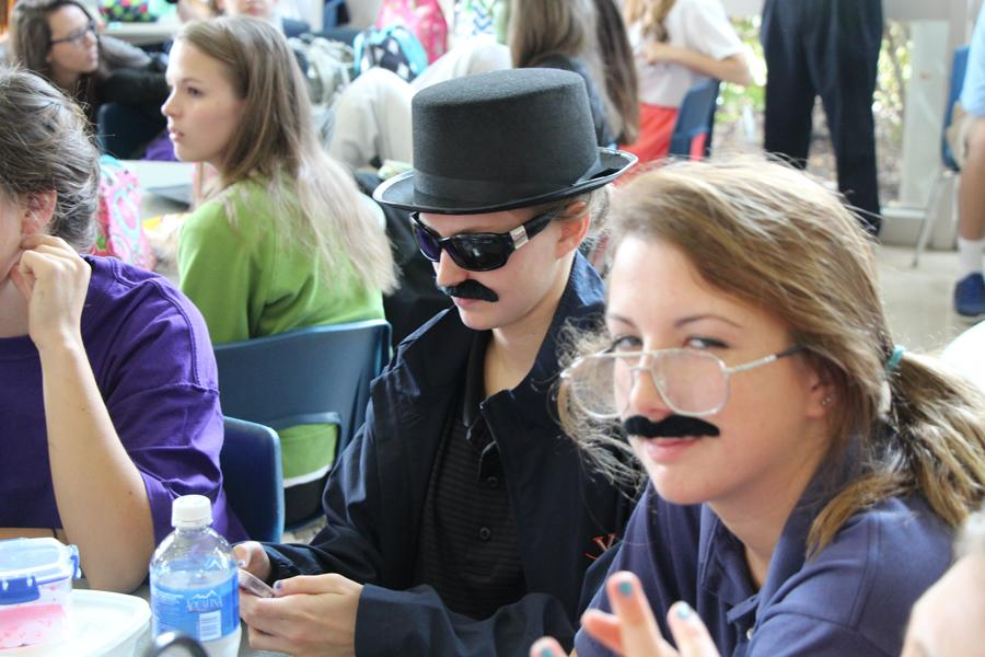 Juniors prepare for the upcoming lunchtime costume skits