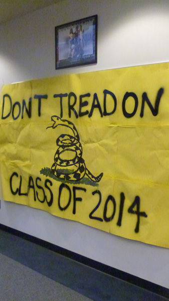 Seniors spent hours working hard on their Homecoming decorations