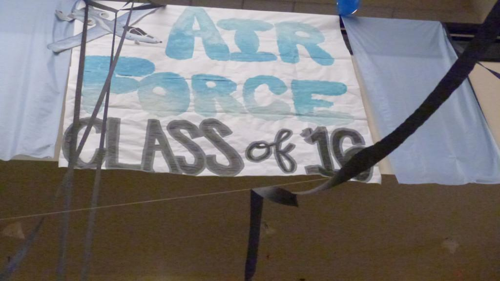 The Sophomore class painted lots of signs to celebrate the U.S. Air Force.