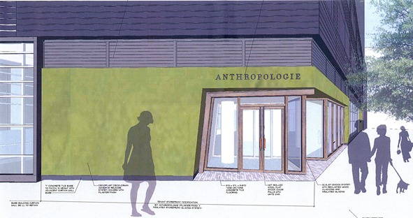 Sketch details for the new Anthropologie store