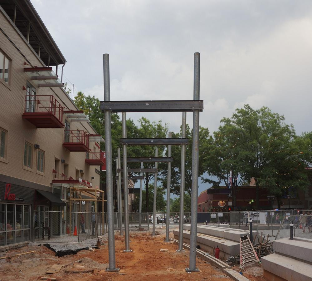 Construction is underway downtown Greenville
