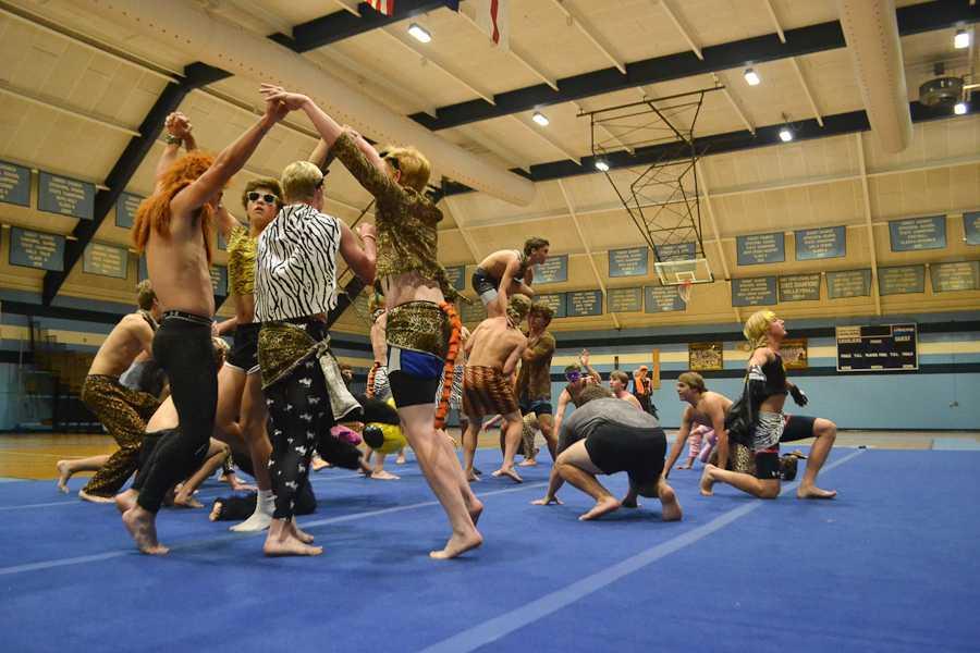 The Sophomore-Junior dance team explore their animal sides.