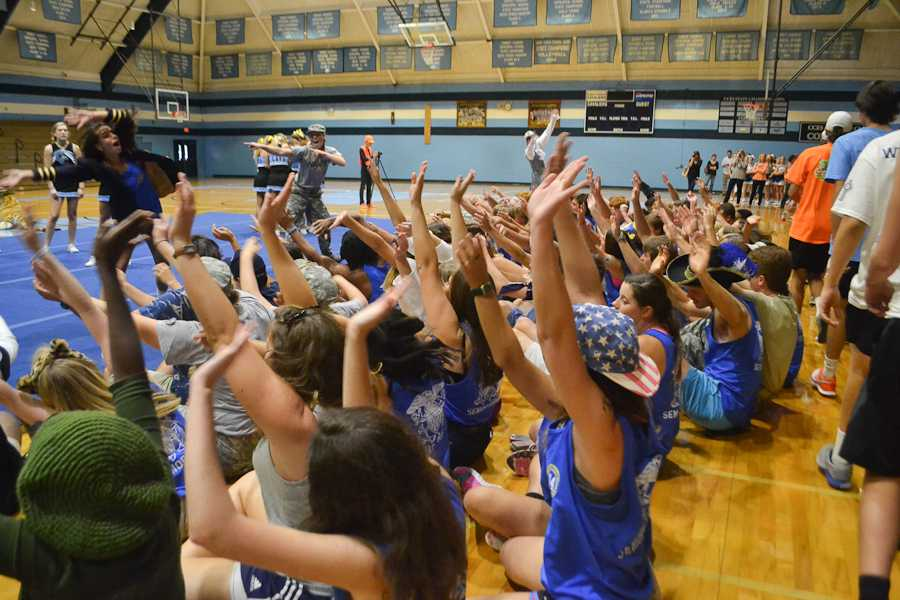 The Senior section starts the roller coaster.