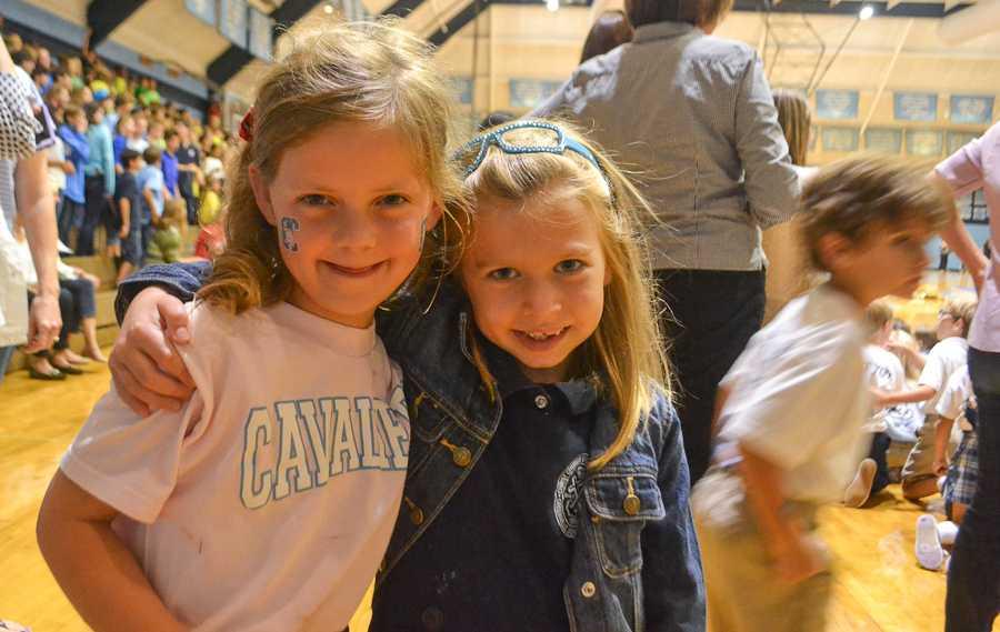 Lower Schoolers show off their Cavalier spirit.