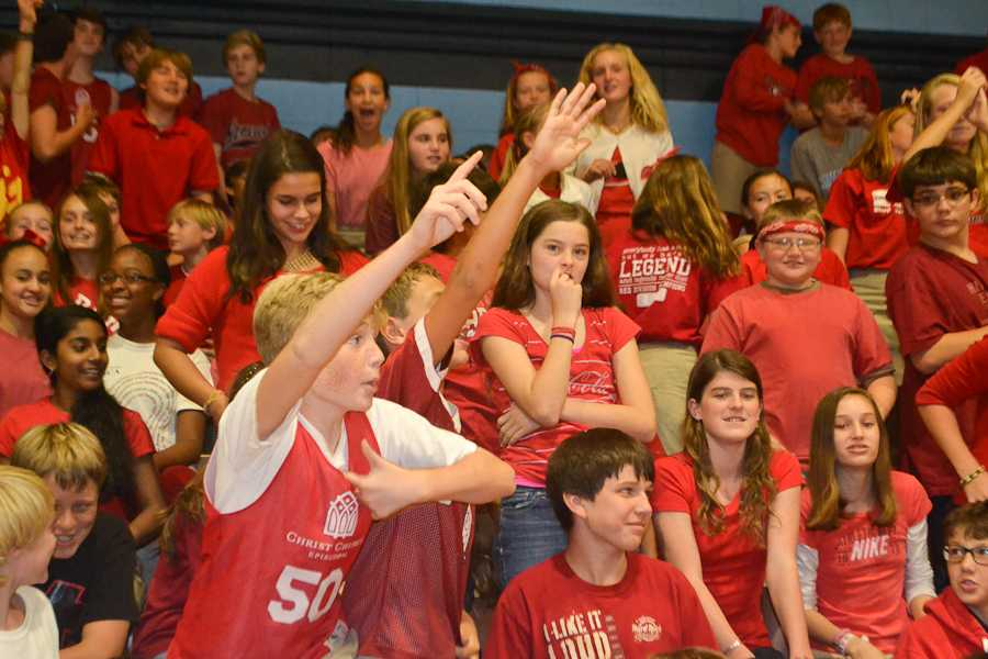 Middle Schoolers get riled at the pep rally.