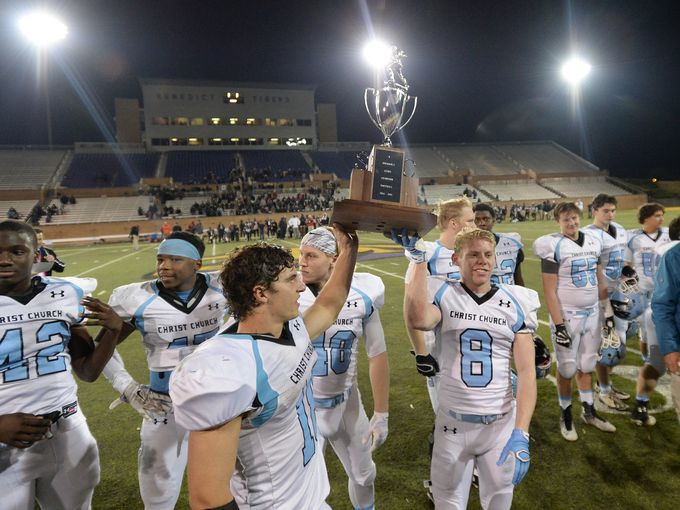 Senior+wide+receivers+Bobby+Hudson+and+Rudy+Johnstone+celebrate+their+victory.+%28Greenville+News%2Fgreenvilleonline.com%29