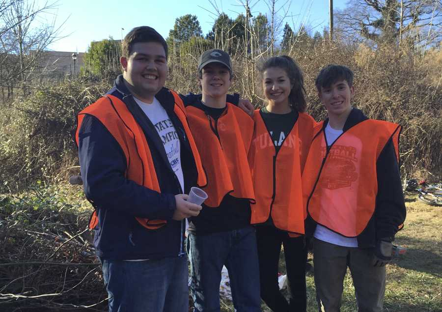 Students joined together to serve the community.