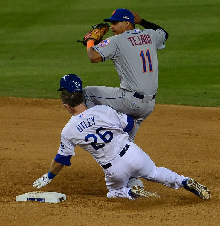 Chase Utley takes out Ruben Tejada (http://www.insidesocal.com/dodgers/files/2015/10/Utley-Tejada-slide.jpg).