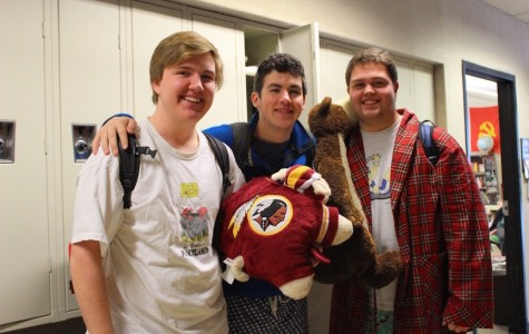 The O'Briens and Charlie dress up for PJ Day