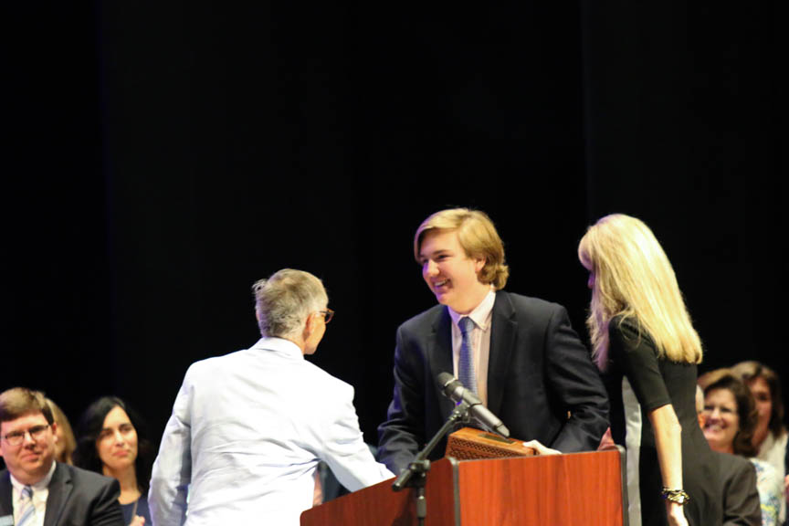 Upper+School+students+were+honored+at+the+Underclassmen+Awards+Ceremony+on+Wednesday+%28Newlin+Roark%2FStaff+Photo%29.