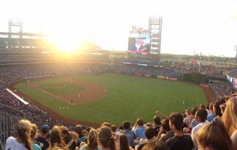 After arriving in Philadelphia, the ninth graders attended a Phillies baseball game against the Washington Nationals (Molly Miller).