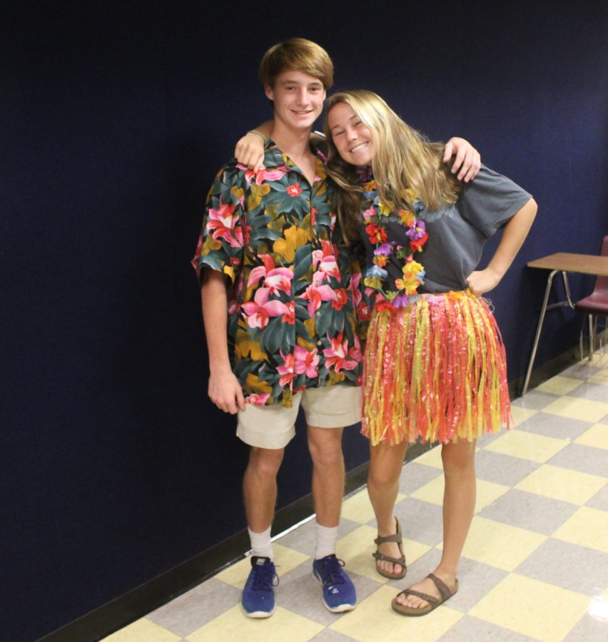 Upper School students dressed in duos for Pair Day on the second day of Homecoming.