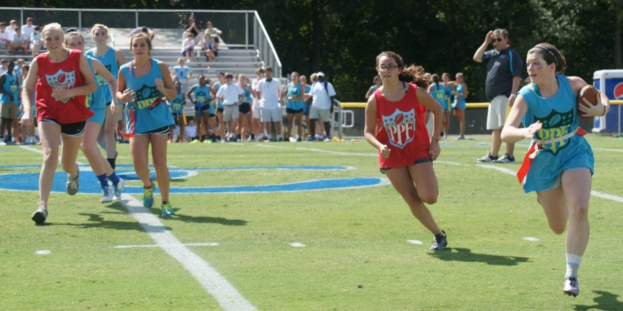 Junior-Sophomore team defeated the Senior-Freshmen team in a dominating performance to finish off Homecoming.