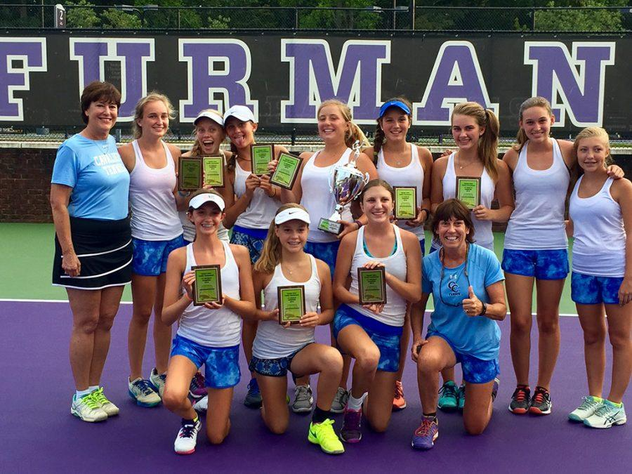 The girls tennis team competed at Furman University (Michaela McNutt/Staff Photo).