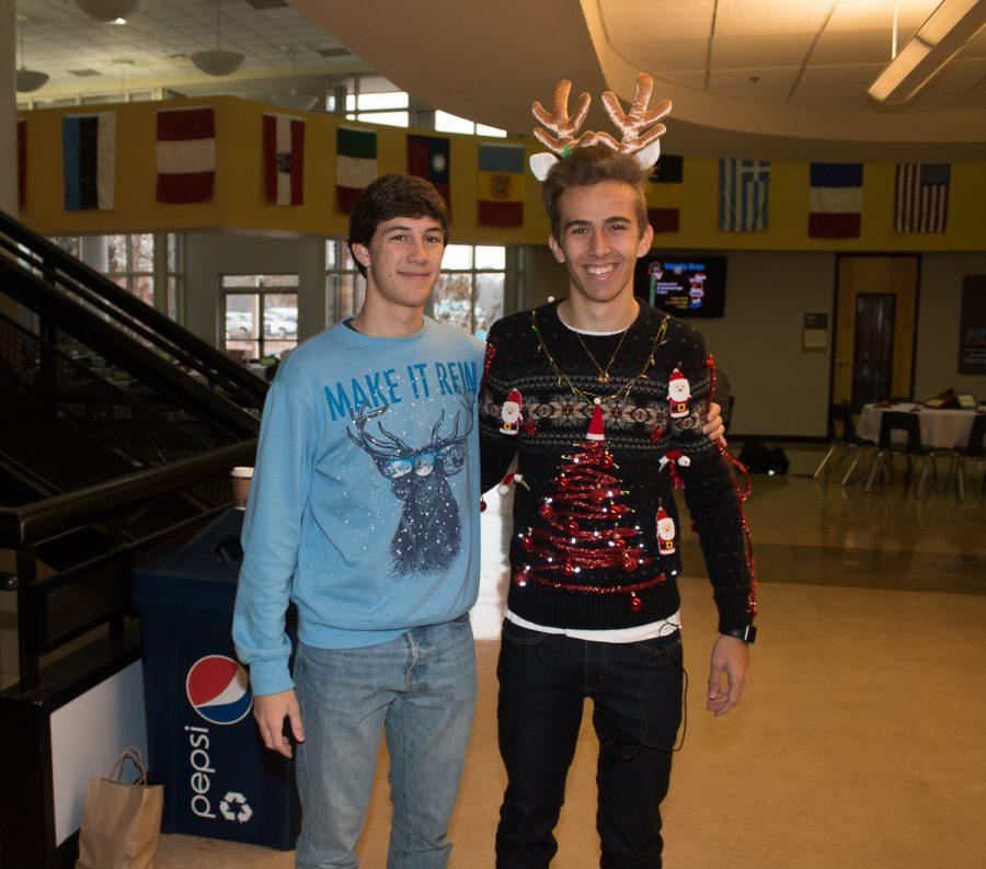 Upper School students sported their tackiest sweaters on Monday.