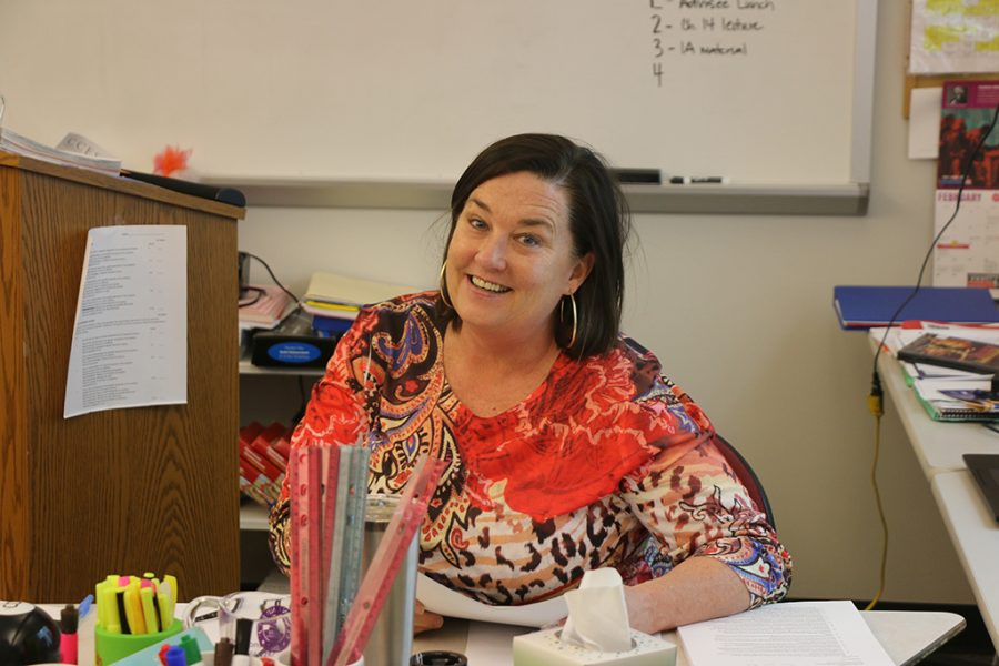 Mrs.+Carmichael+teaches+the+Southern+History+elective+class+at+CCES.