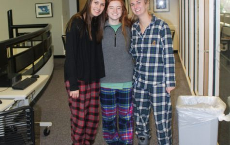 Students enjoy dressing up in their pajamas on the first day of Spirit Week.