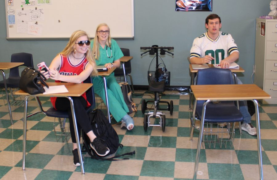 Students dress up on the third day of Spirit Week as their future careers!