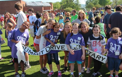 Students enjoy a day at Furman University Volunteering with handicapped children on April 21st.