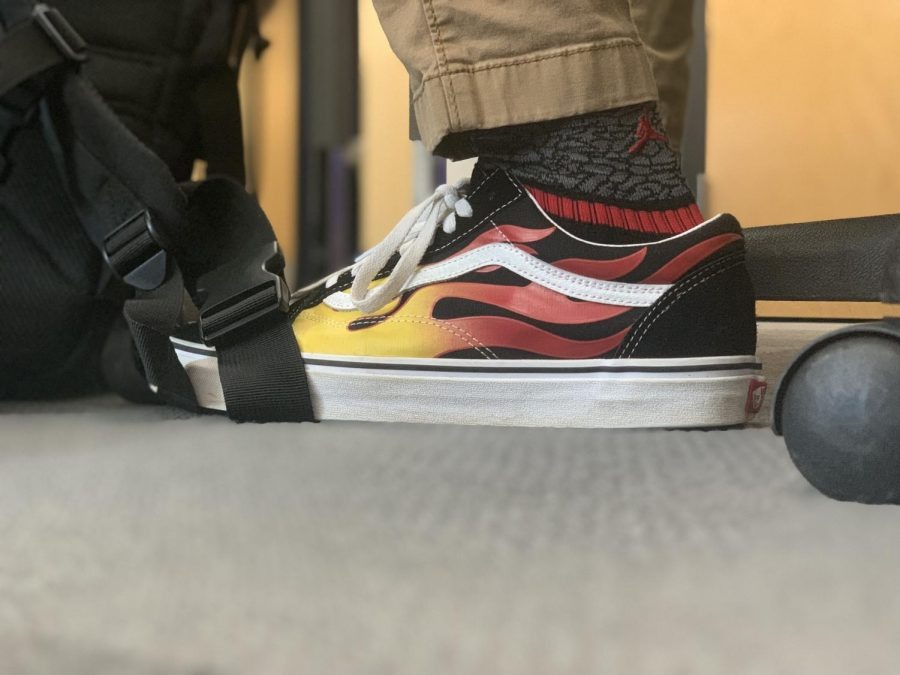 Sophomore London Sales' Vans exemplify the dominance of sneaker culture at CCES